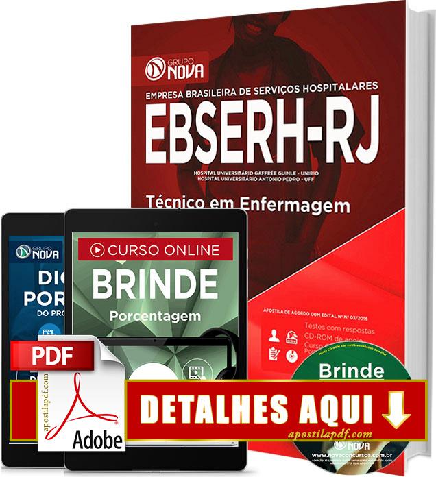 Apostila EBSERH RJ 2016 Técnico em Enfermagem Impressa