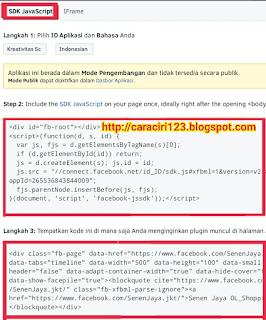 Cara menambahkan widget fanspage facebook melayang di blog
