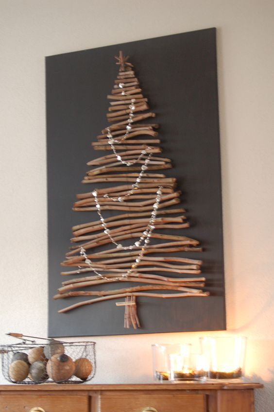 Decora es de natal simples e criativas reciclar e decorar Christmas trees made out of wood