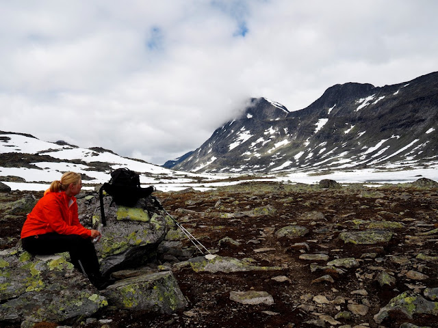 Odpočinek, přestávka, Rauddalen, údolí, Norsko, Jotunheimen