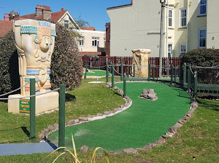 Fantasia Adventure Golf on Sea Road in Felixstowe. May 2018