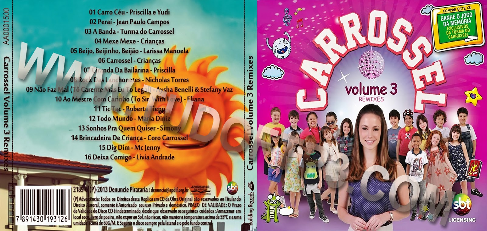 cd do carrossel volume 3 remix