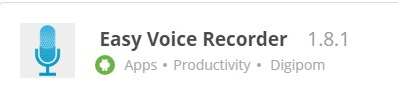 Download Aplikasi Android Perekam Suara Terbaik Gratis (Easy Voice Recorder), Aplikasi Android Untuk Merekam Suara Telepon