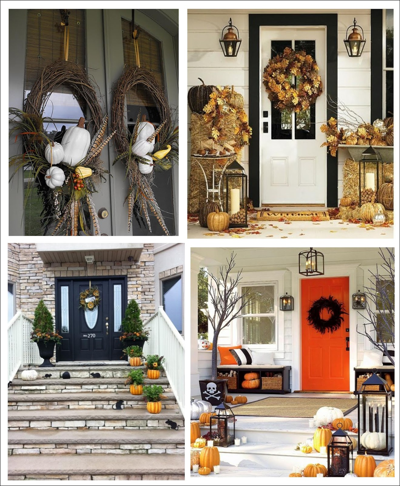 It 39 s written on the wall 90 fall porch decorating ideas for Outer decoration of house