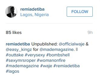 S*x Appeal! See the Hot Pictures of Waje and a Man that Got Fans Talking