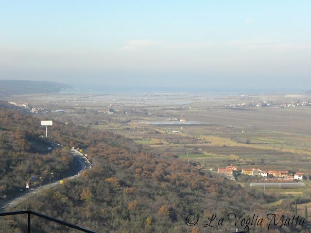 Stari Kastel Restaurant Panorama verso le saline di Sicciole