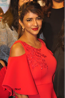 Actress Manchu Lakshmi Pictures in Red Long Dress  0004