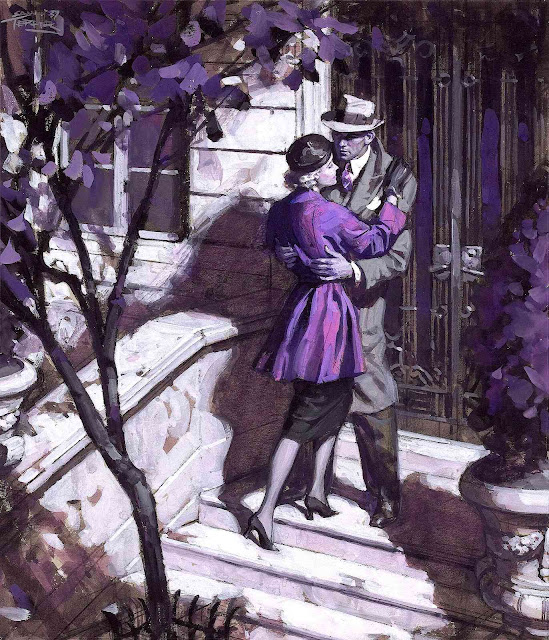 Saul Tepper illustration in purple