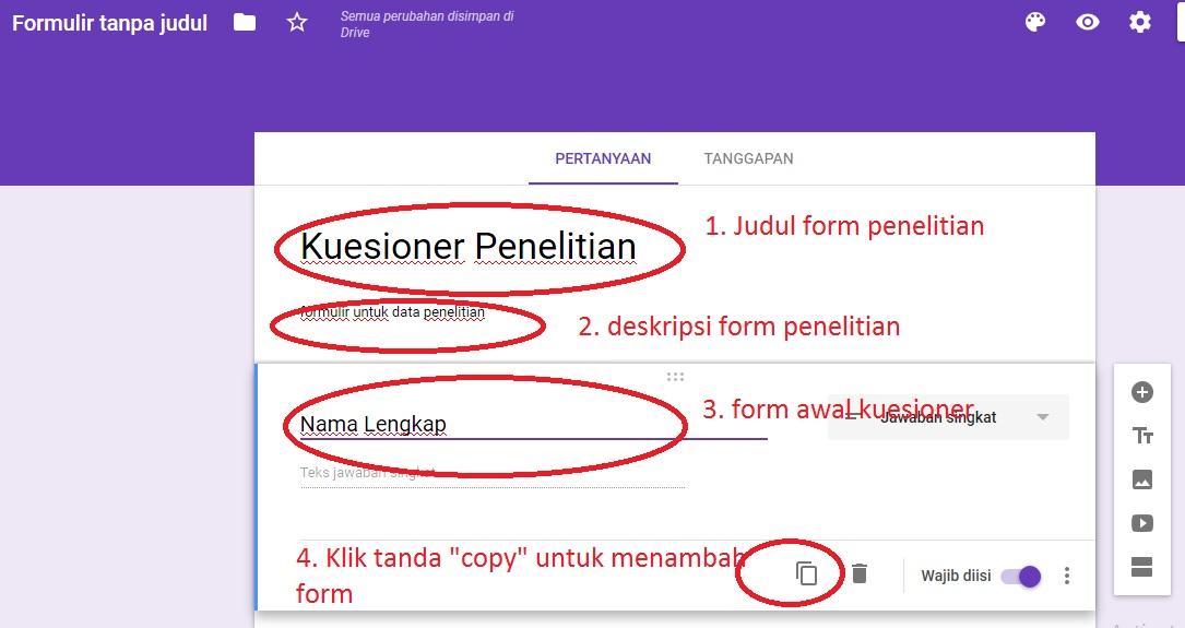 Cara Membuat Kuesioner Online dengan Google Formulir ...