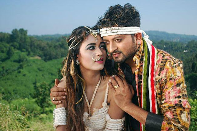 Ahona Rahman In Her Movies With Actor Symon Hot Photos