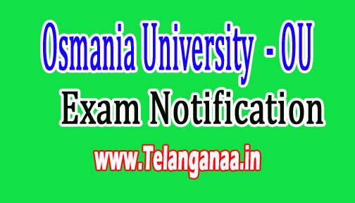Osmania University OU UG Supply Examination Fee Renewal Notification in 2016