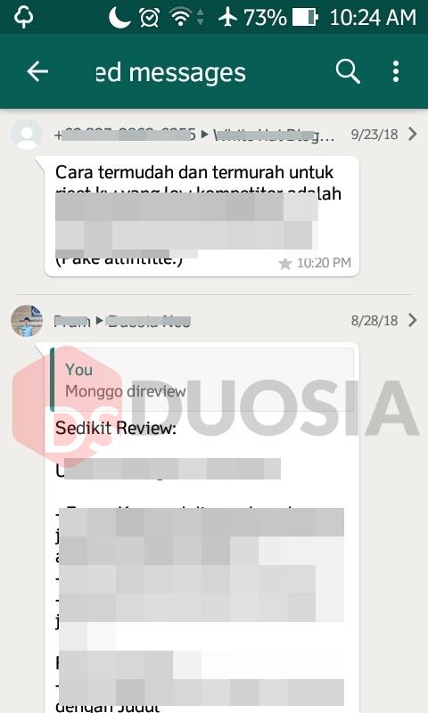 cara melihat pesan berbintang di whatsapp