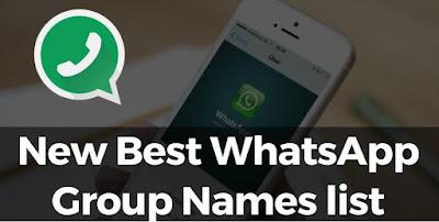 Best Whatsapp Group Names List