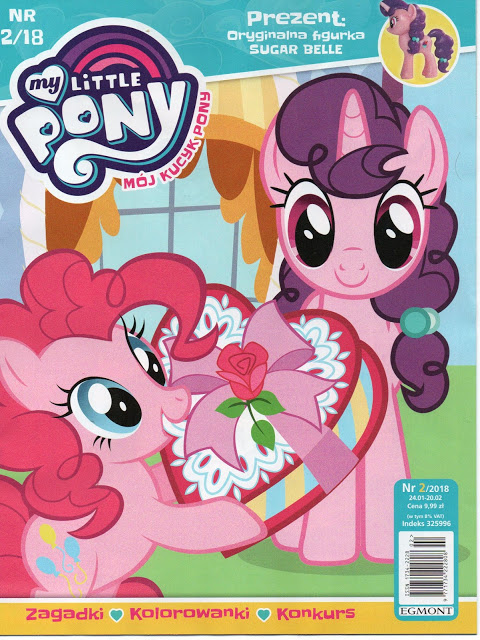 next polish mlp magazine includes sugar belle figure mlp merch