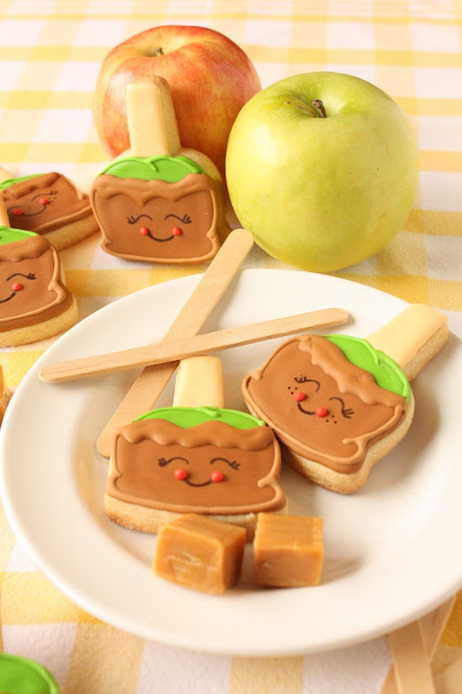 cute apple cookies