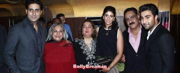 Abhishek Bachchan, Jaya Bachchan, Reema Kapoor, Aadar Jain, Armaan Jain