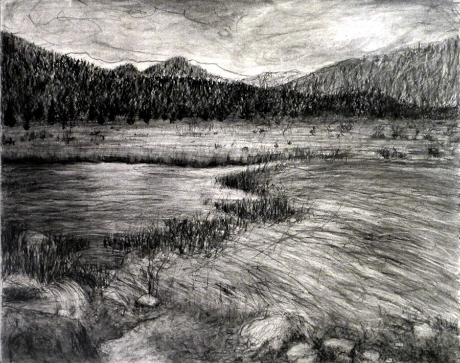 landscape charcoal sketches - photo #15