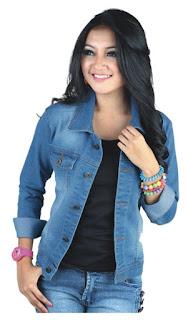 jaket jeans wanita blue, jaket jeans wanita murah, jaket jeans wanita terbaru