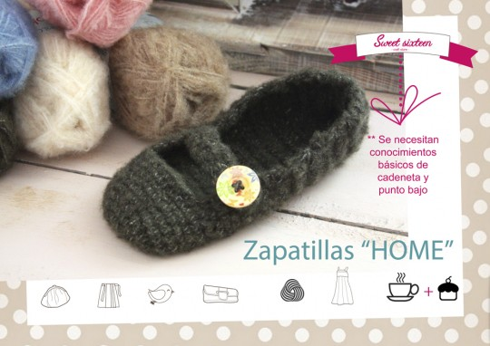 Taller zapatillas de ganchillo en Madrid