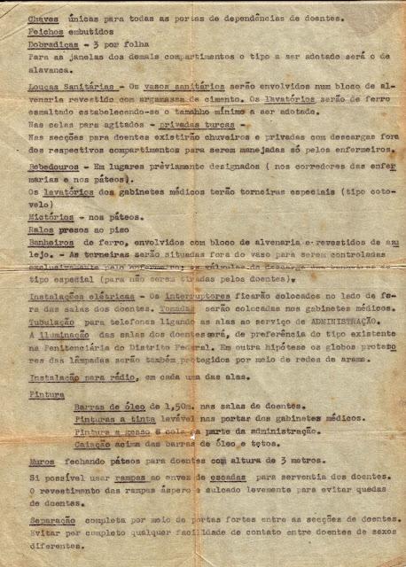 Ministério da Educação e Saúde: especificações para construção de hospitais colônias de doentes mentais, p.3.