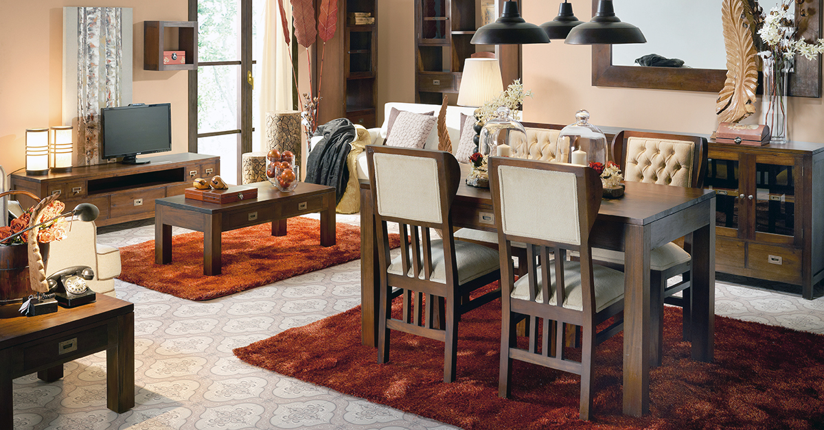 Muebles de Comedor: 4 COMEDORES DE ESTILO COLONIAL