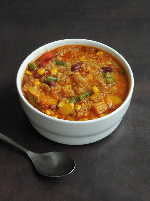 Mixed Vegetables, Rajma Quinoa Soup