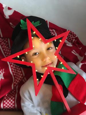 świąteczna sesja zdjęciowa dla dziecka