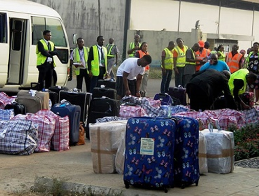 23 Nigerians deported from Spain arrive Lagos Airport