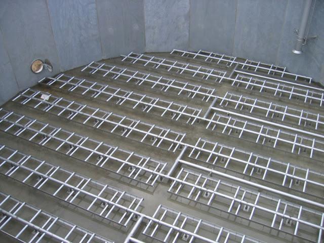 Kết cấu ống cấp khí trong bể hiếu khí