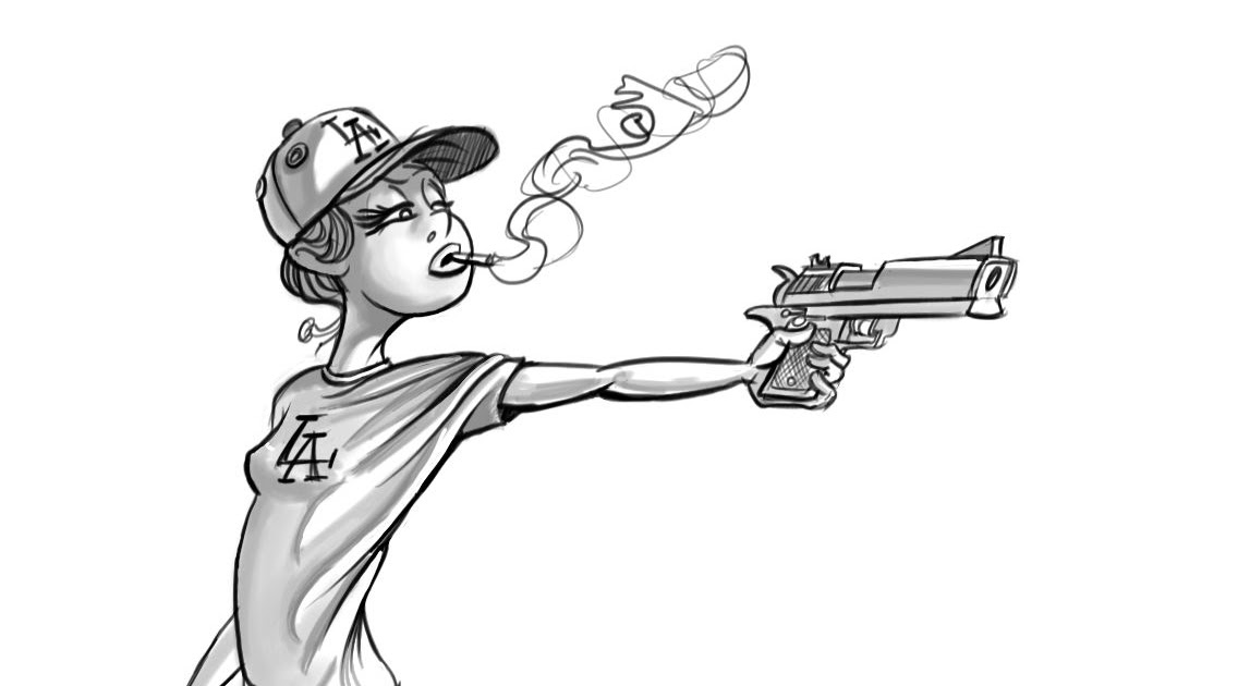 Mark Aguilar's Blog of Drawings: Girl With the Dodger Hat