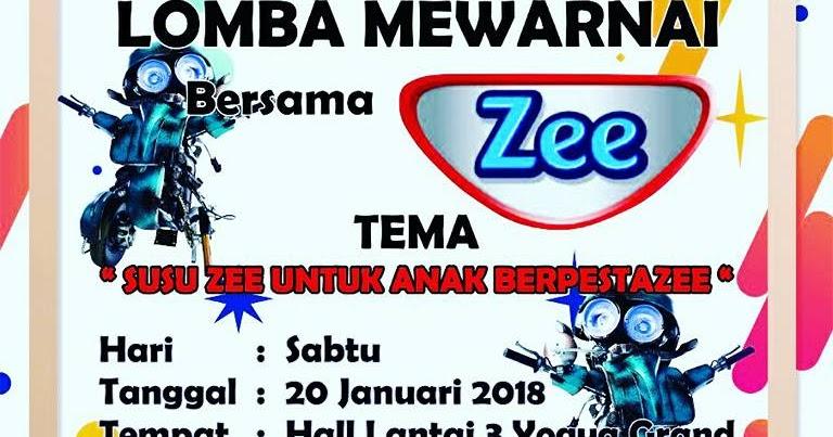 Lomba Mewarnai Bersama Susu Zee Lomba Menggambar Dan Mewarnai 2018