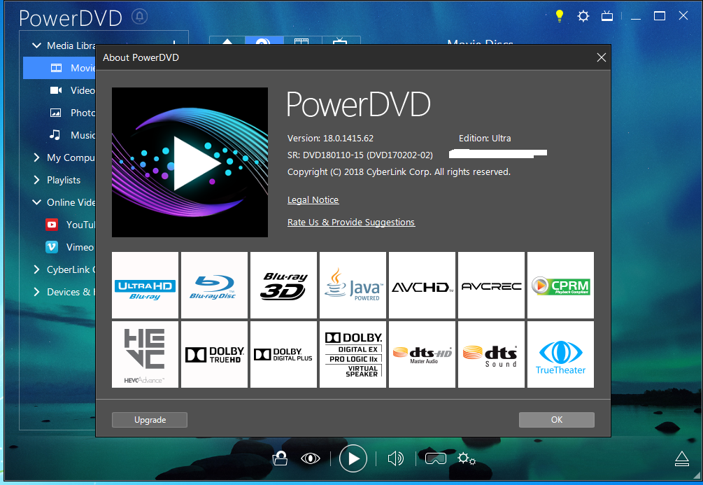 cyberlink powerdvd 18 ultra crack and serial key free download