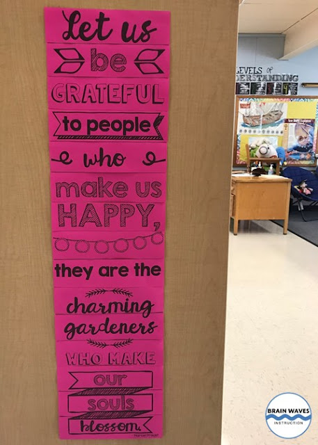 Classroom kindness poster