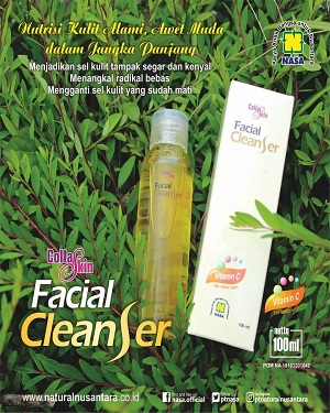 Collagen facial cleanser