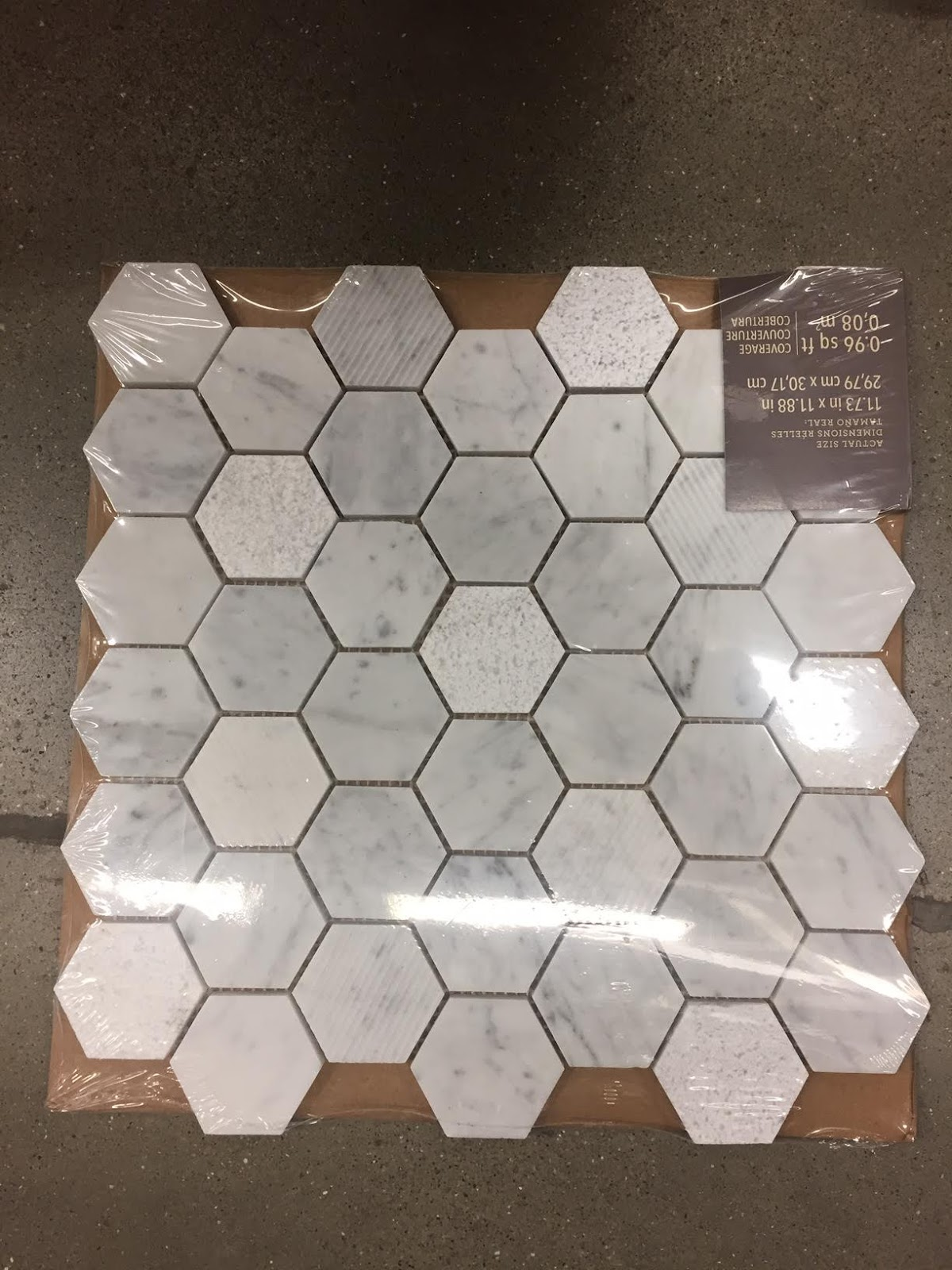 Beautiful tile options at the hardware store from thrifty decor chick medium marble hexagon tile dailygadgetfo Gallery