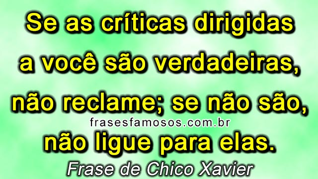 Mensagem Chico Xavier