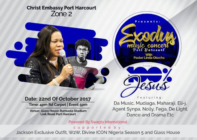 Christ Embassy Port Harcourt Zone 2 Present: EXODUS MUSIC CONCERT With Pastor Linda Okocha