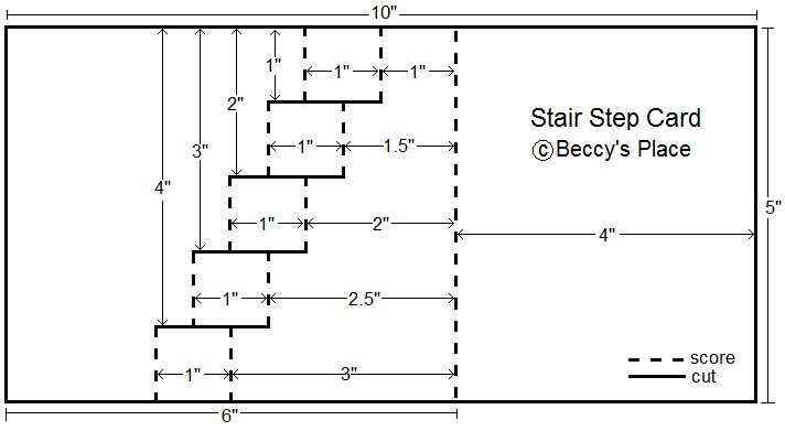 Beccy's Place: Tutorial: Stair Step Fold