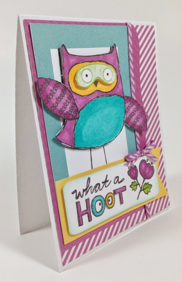Cricut Artbooking Hoot Owl card side view
