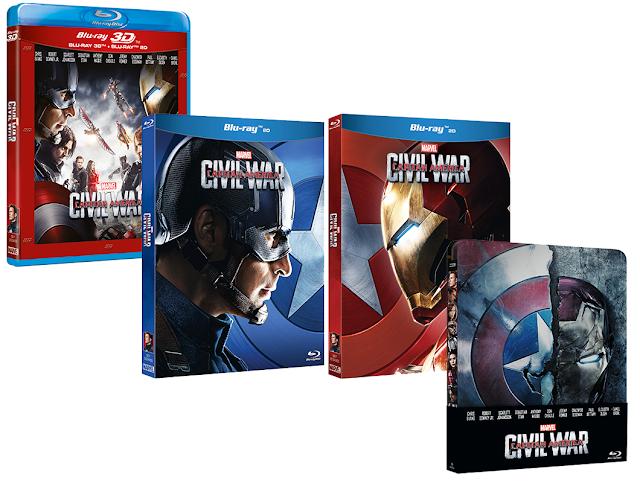 Ya a la venta 'Capitán América: Civil War' en DVD, Blu-ray y Edición Caja Metálica