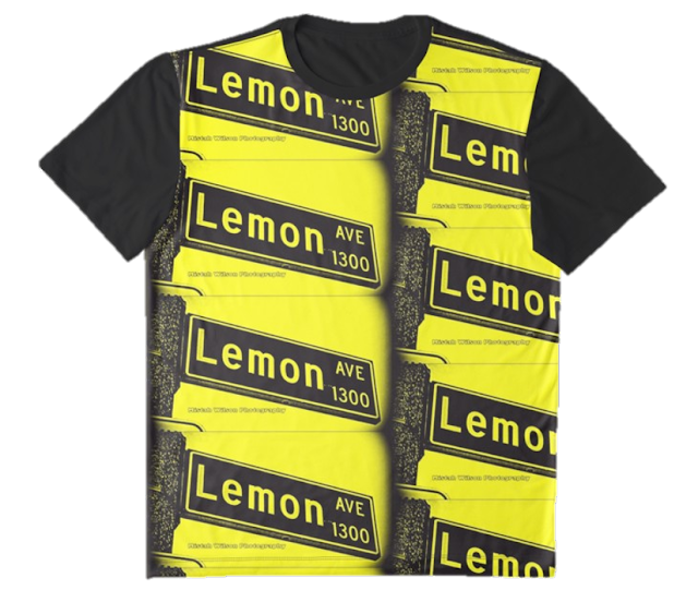 Lemon Avenue, Long Beach, CA Bumblebee Graphic T-Shirt by Mistah Wilson Photography