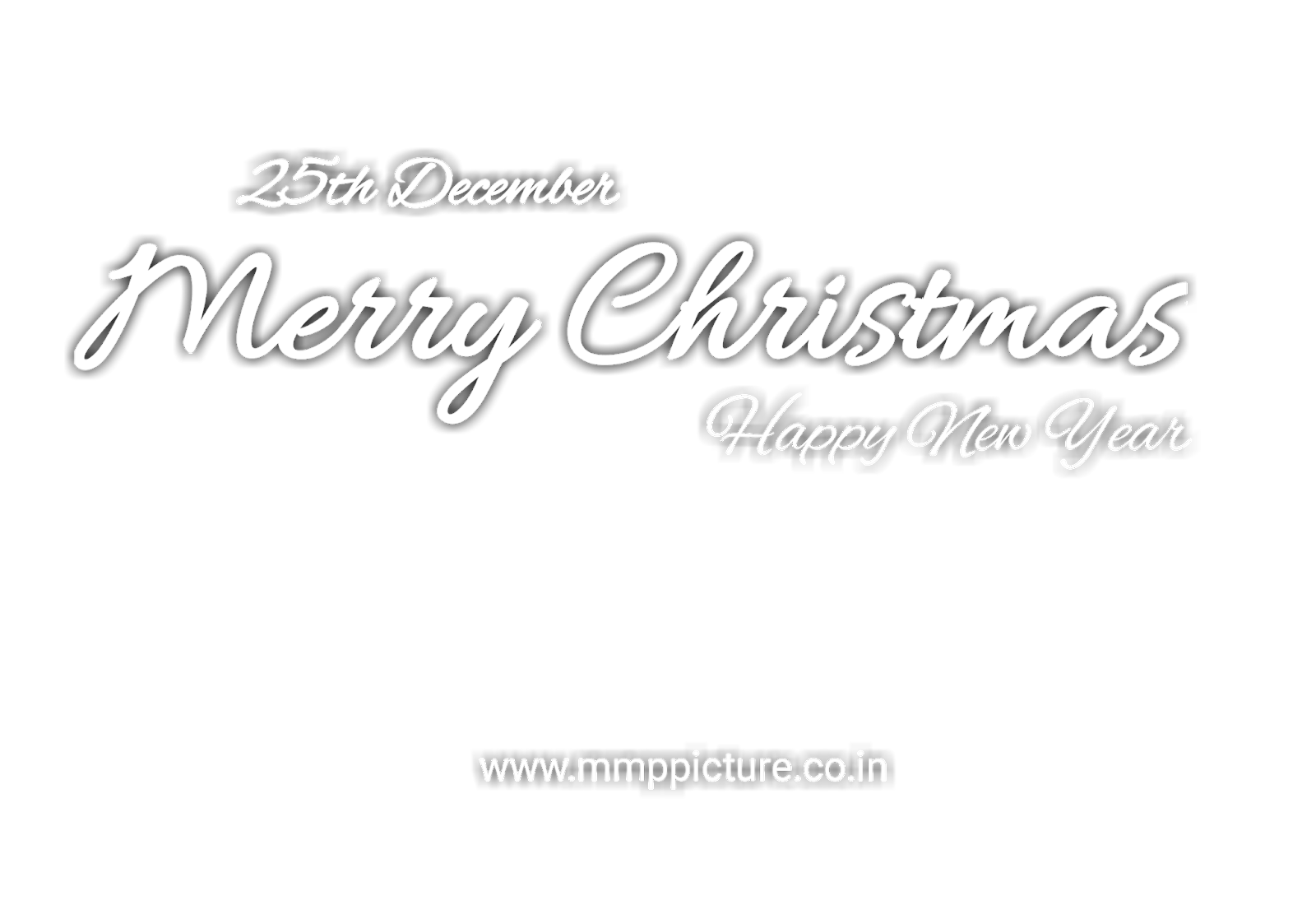 Merry Christmas And Happy New Year Text Png Transparent Stylish Font