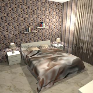 Trasformazione della camera da letto in stile vintage con uso dei parati e complementi