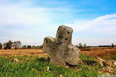 Damianowice gm. Kobieryce krzyż kamienny, pokutny, krzyż pojednania
