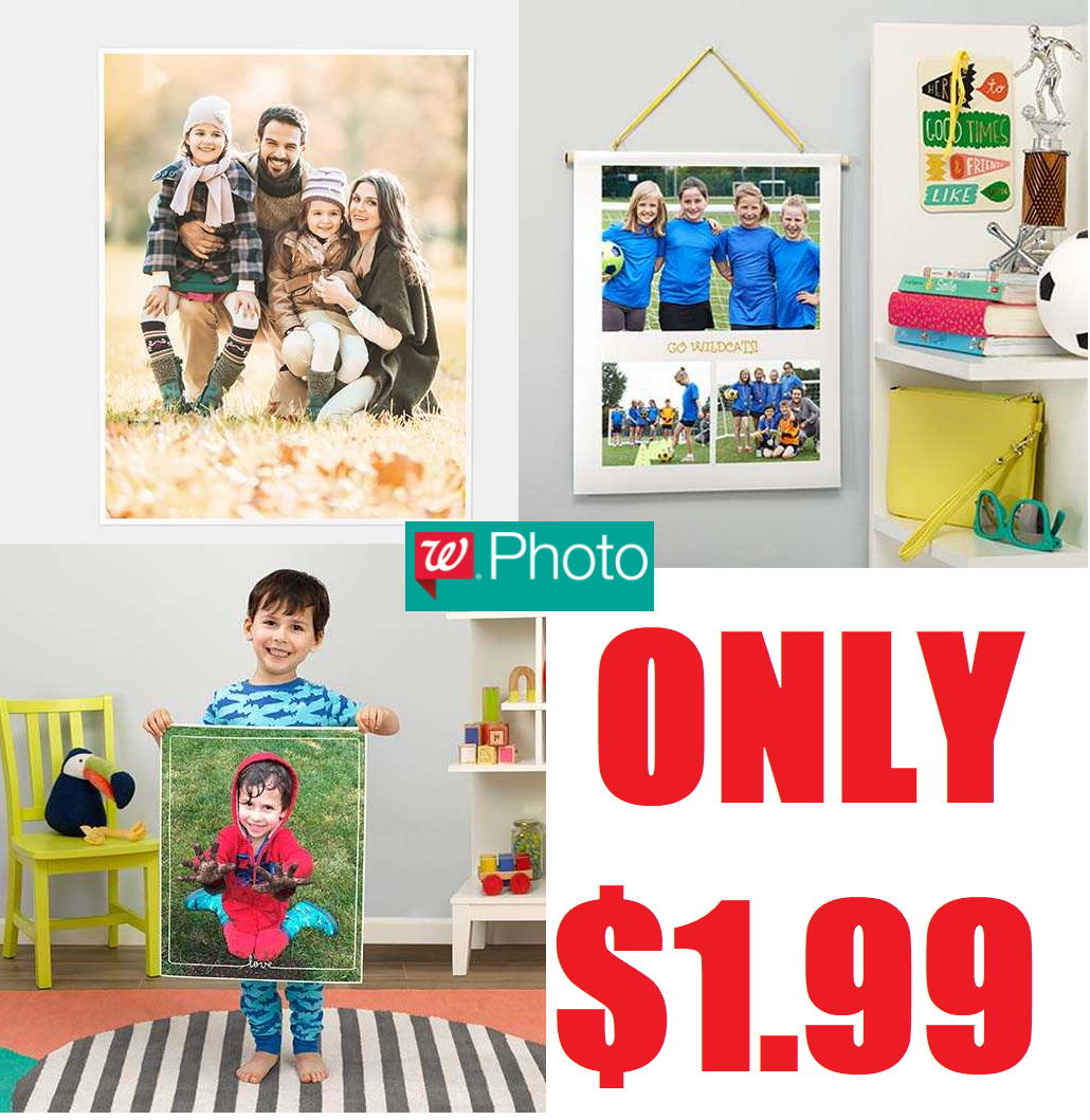 Walgreens 11x14 photo poster 1 99 free store pickup