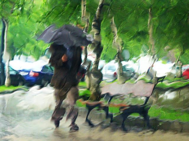 Llover, lo que se dice llover, en Bilbao no llueve