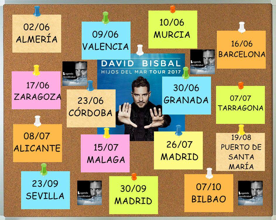 David Bisbal, Hijos Del Mar Tour 2017, venta de entradas