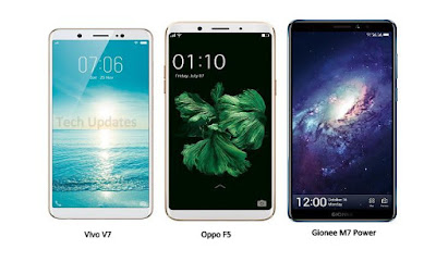 Vivo V7 vs Oppo F5 vs Gionee M7 Power