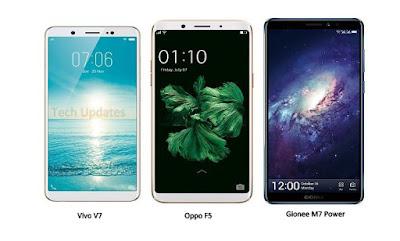 Vivo V7 vs Oppo F5 vs Gionee M7 Power