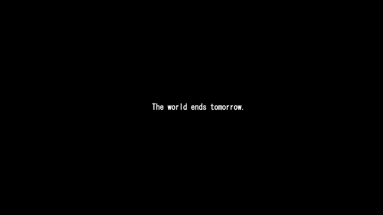 [2019][Natsukon] The world ends tomorrow